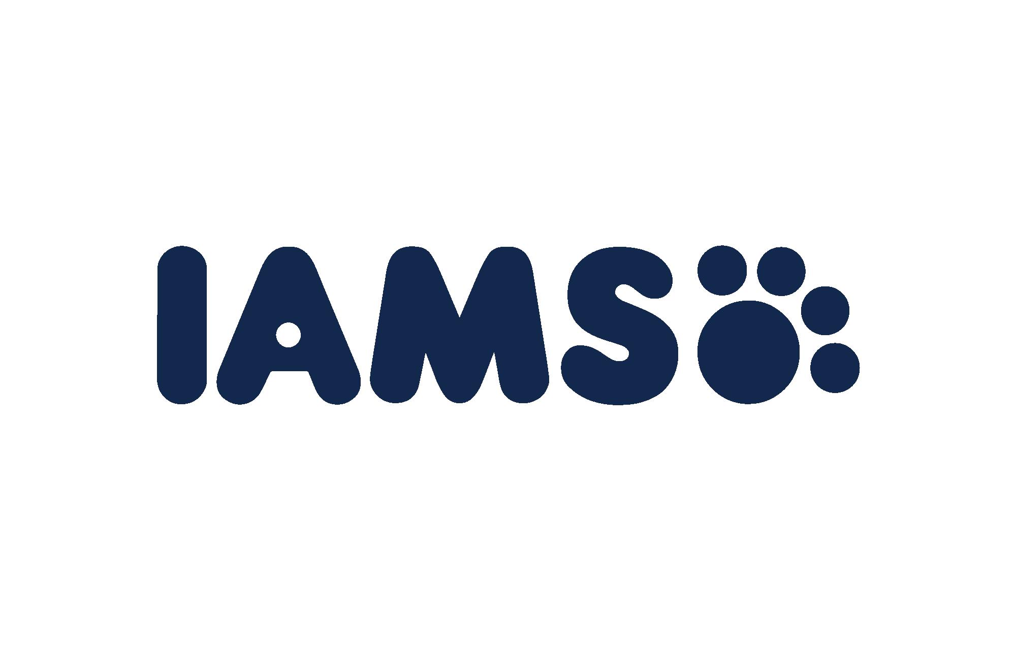 Blue IAMS logo